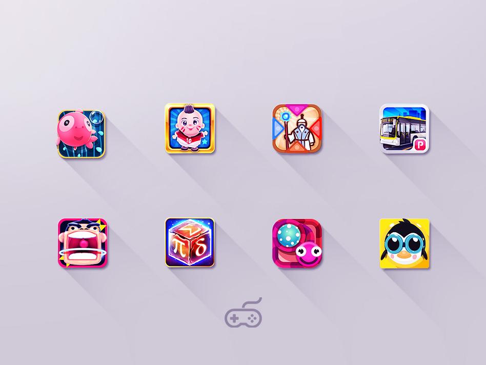 Game App Icon Design - najil 2019 trends icon ios app design mobile game logo android game design app ui vector illustration game