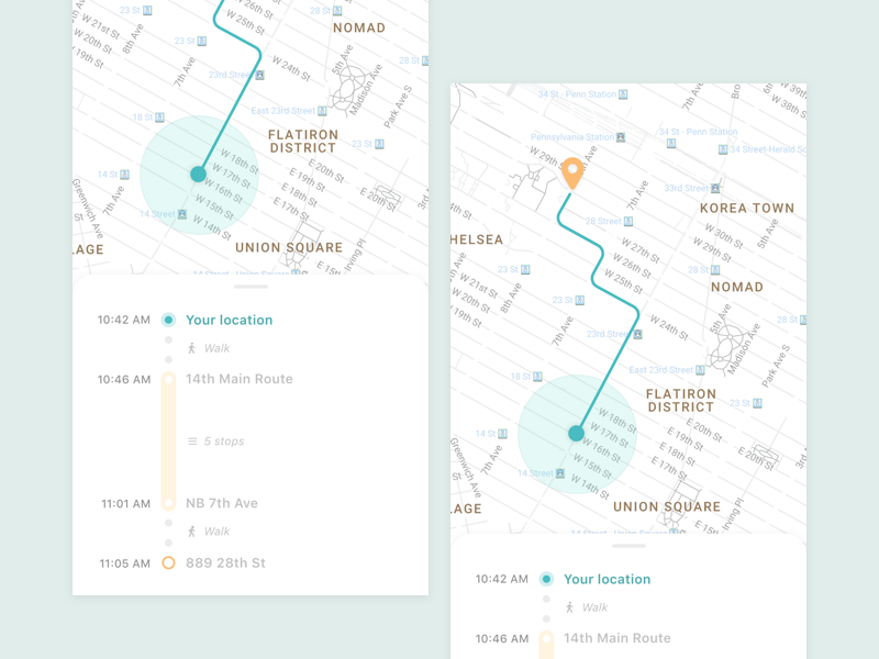 Minimal Maps (Daily UI) by crystal on Dribbble
