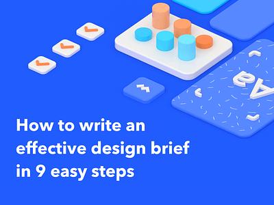How to write an effective design brief in 9 easy steps article web cinema4d illustrations design c4d 3d illustration