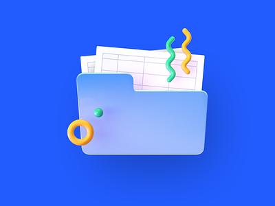 3d picture for the Tester Management feature on Maze folder icon design art illustration picture folder 3d