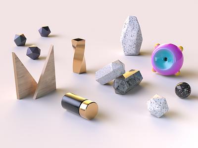 3d materials exploration c4d abject cinema 4d texture material illustration 3d
