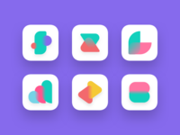 Abstract icon exploration for finance application