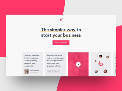 Bounty declined landing page web variant 2d animated minimal landing page design landing page landing experience webdesign design video animation video animation website web flat ux ui