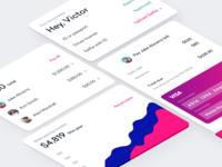 Courage Online web application UI elements