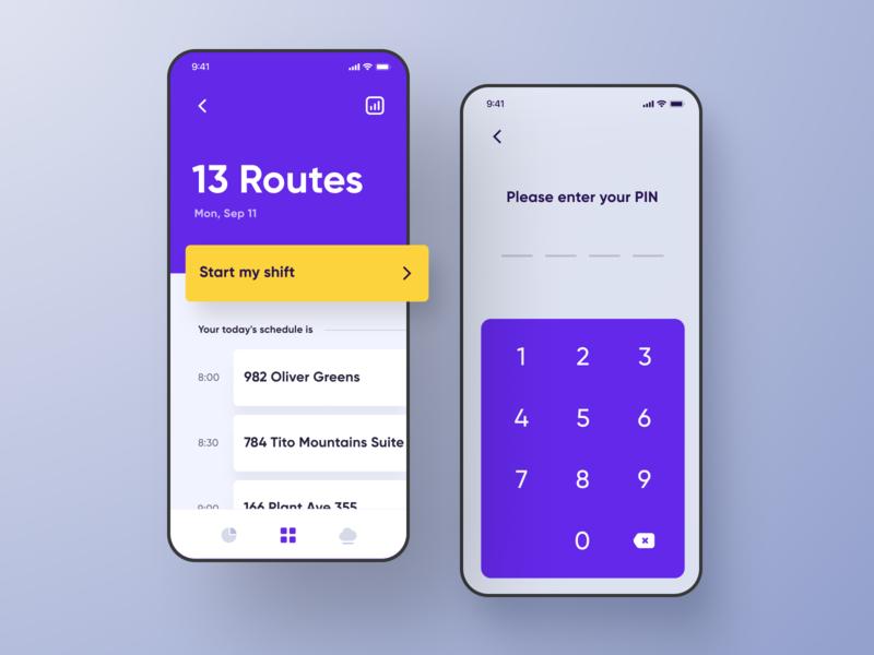 Service Core iOS Application Redesign ui ux flat app application ios design minimal iphone smartphone experiece uiux app design screenshot screenshots keyboard simple purple bright dashboard