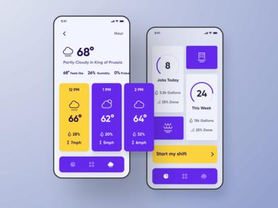 Service Core iOS Application Dashboard