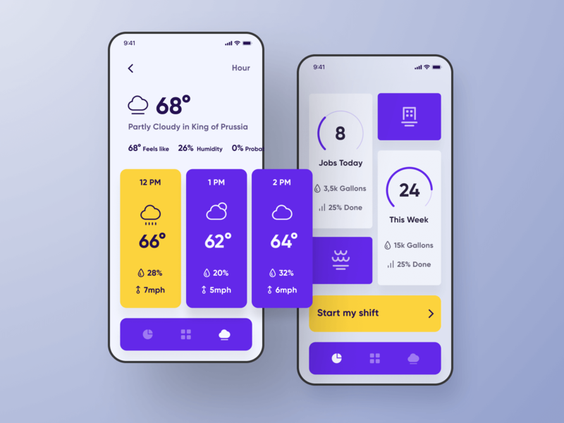 Service Core iOS Application Dashboard graphic dashboard bright purple simple keyboard screenshots screenshot app design experiece smartphone iphone minimal design ios application app flat ux ui