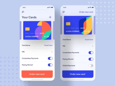 Universe AB credit card screen