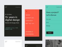 victors.live website design. Mobile version