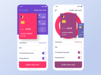 Universe AB credit card screen Alternative