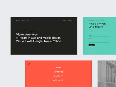 victors.live website design landing page site dribbble portfolio webpage webdesign website web