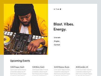 RLND DJ website design web website webdesign webpage portfolio dribbble site page landing