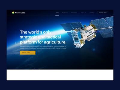 Mantle Labs design ux animation landing homepage ui webdesign