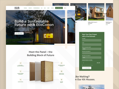 Eco Cocon is Live! 3d animation design ux landing homepage ui webdesign