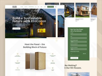 Eco Cocon is Live! 3d animation design ux landing homepage ui webdesign