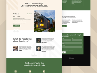 Eco Cocon is Live! animation design ux landing homepage ui webdesign