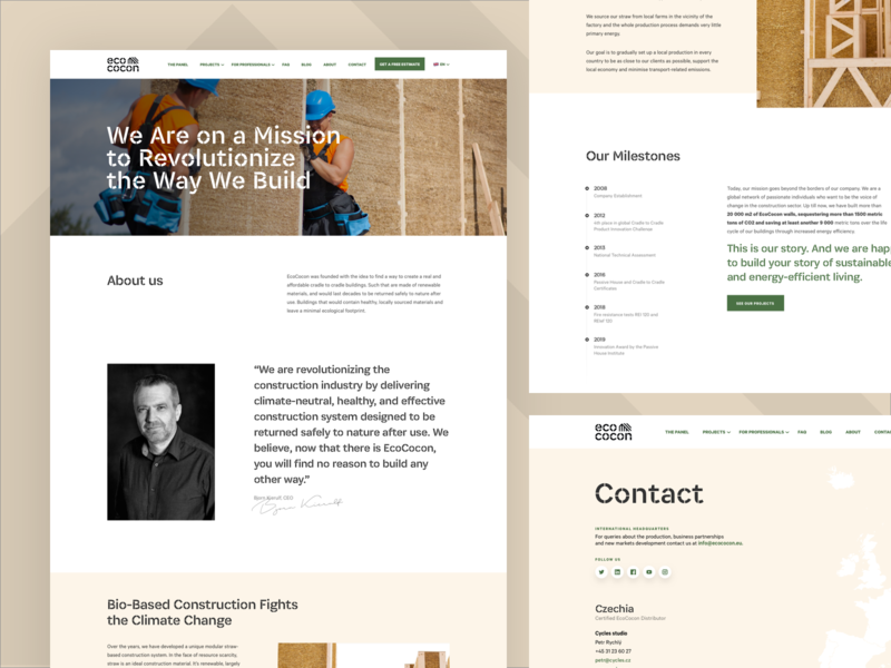 Eco cocon is Live! about contact design ux simple ui webdesign