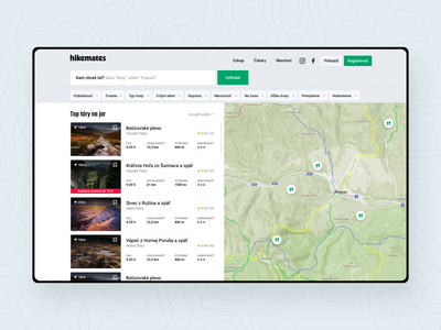 Hikemates search 🏔 animation search design ui ux webdesign