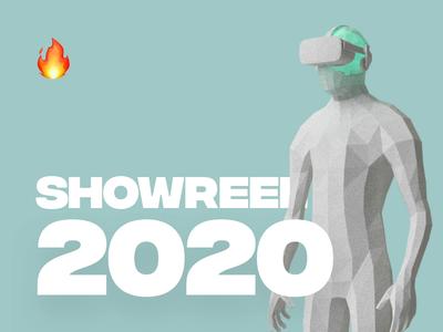 SHOWREEL 2020 🔥 dashboard blue landing app homepage animation ui ux design webdesign showreel