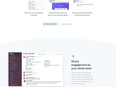 Chatlio - Features website design web ux experience user ui page landing gradient clean chat