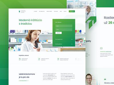 SLeK homepage webdesign healthcare simple green medical homepage