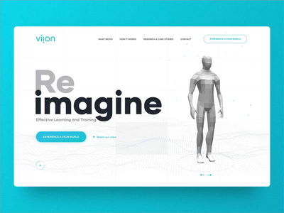 Viion is live! augmented reality virtual reality ar vr 3d design ux ui webdesign animation landing homepage