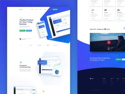 Landing page ux blue webdesign design ui simple landing homepage
