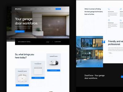 DoorForce is live! simple blue ux webdesign design animation landing ui homepage