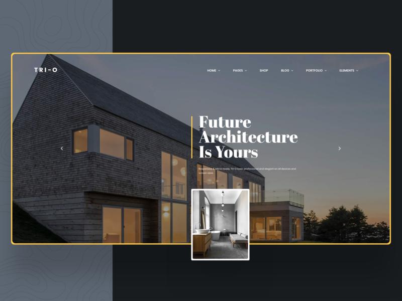 Tri-O   Creative Multipurpose Business WordPress Theme real estate agency business interior architecture graphic ecommerce ux ui portfolio multipurpose webdesign creative modern psd minimal wordpress