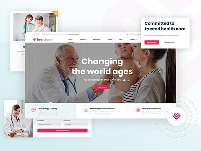 Healsoul   Medical, Healthcare Service WordPress Theme clinic professional pharmacy medical healthcare website business design ux ui webdesign creative modern psd wordpress