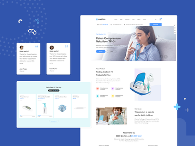 The Medical Kits Homepage - Medizin | Medical Store WP Theme covid19 pharmacy clinic hospital medical website business design ux ui webdesign creative modern minimal psd wordpress