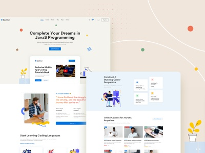 Homepage Development - EduMall | LMS WordPress Theme education website school online class online course learning platform learning management system lms education website business design ux ui webdesign creative modern minimal wordpress
