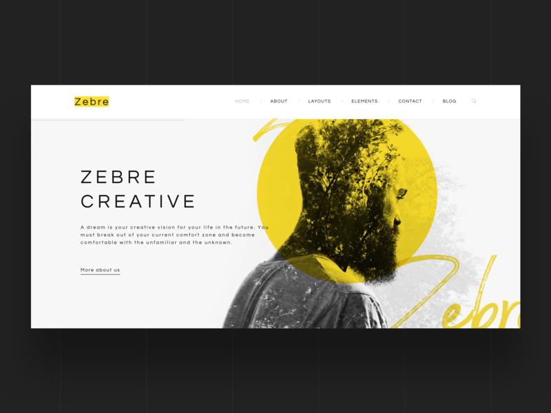 Zebre - Freelancer & Agency Portfolio Minimal WP Theme simple ux theme design ui portfolio webdesign creative multipurpose modern minimal psd wordpress
