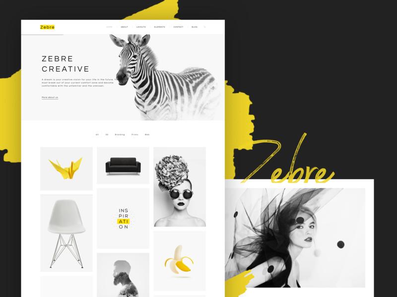 Zebre - Freelancer & Agency Portfolio Minimal WP Theme 2 design ui portfolio webdesign creative multipurpose modern minimal psd wordpress