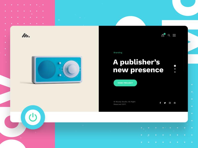 Moody - Creative Business  WordPress Theme webdesign modern minimal portfolio design ux ui uiux dailyui webdesigner colorful pastel creative wordpress