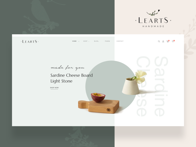 LeArts   WooCommerce WP Theme - Homepage 1 art handmade online shop elegant woocommerce theme ux ui design portfolio webdesign creative multipurpose modern minimal psd wordpress
