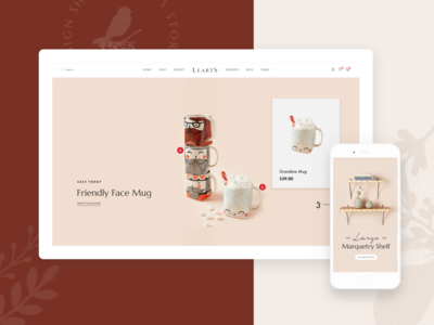 LeArts | WooCommerce WP Theme - Homepage 2