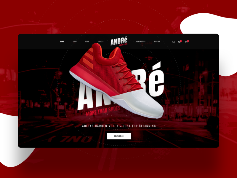 Andre   Street Style Sports & Gyms WP Theme theme gym streetstyle sport e-commerce design ux ui webdesign creative modern psd wordpress