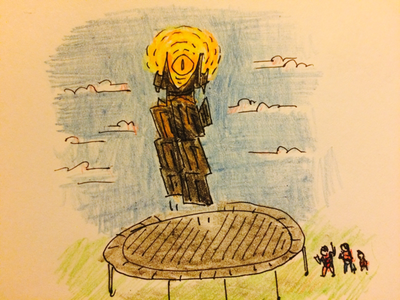 Sauron's been eyeing the dwarfs trampoline eye of sauron lord of the rings