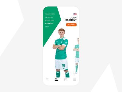 Werder Bremen App germany ui mobile white green usa soccer football bremen werder