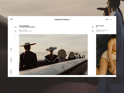 Photographer's portfolio minimalism typography art photography portfolio ux ui website photographer