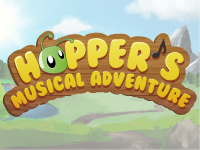 Hopper's Musical Adventure mobile game logo code coding game coding illustrator game illustration illustration free to play nature music children kids kids game musical game logo design logo design game design game mobile game mobile app
