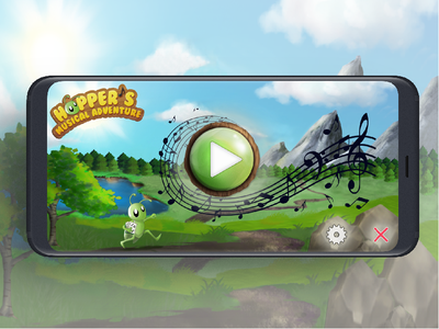 Hopper's Musical Adventure UX/UI/illustration art direction illustration mobile app design mobile application code coding kids children coding game kids game nature mobile design game game design mobile game