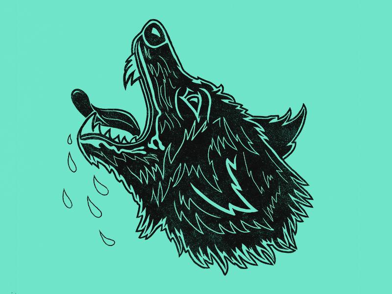Quiet Hounds Illustration illustration hound dog wolf