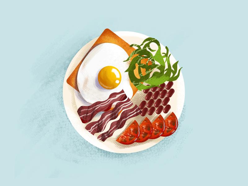 Good morning meal breakfast egg illustration