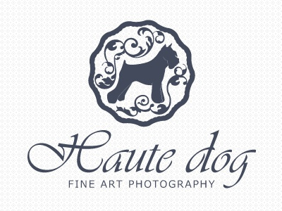 Logo Haute Dog logo dog pet photography