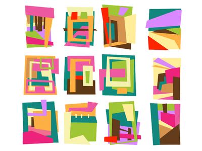 Composition shapes abstract color study compositions maurice van der bij