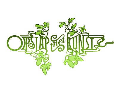 Opstap met kunst typography artdeco jugendstil logo mauice van der bij
