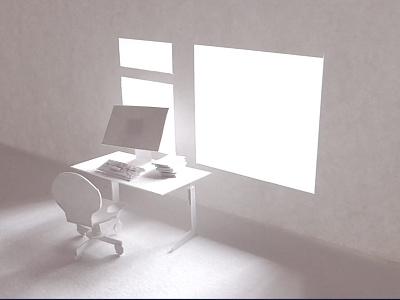 Paperless Office 01 white handmade intimate cut out paper illustration maurice van der bij