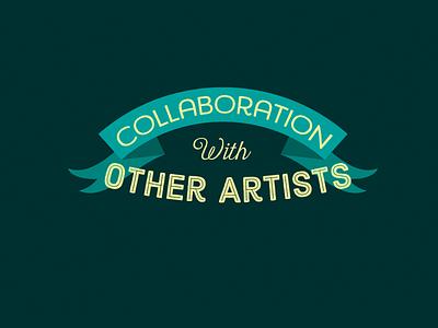 Collaboration Dark 02 color shape letter typographic illustration maurice van der bij